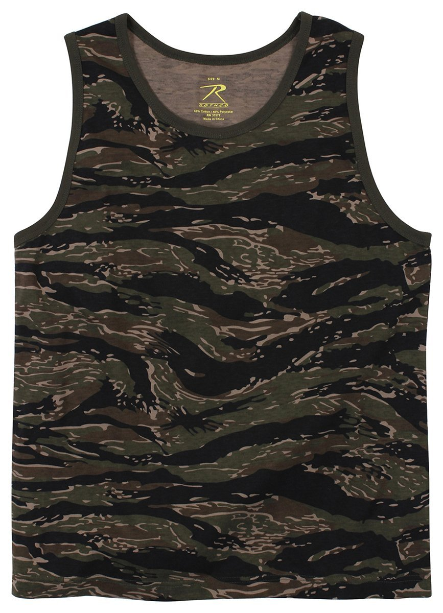 Rothco Camo Tank Top - Tiger Stripe Camo, Small