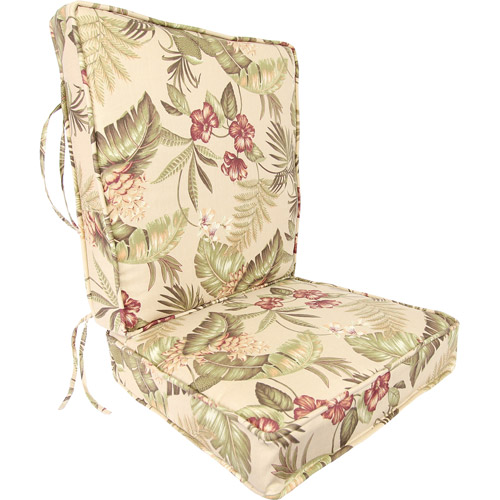 Jordan Manufacturing Floral Outdoor Deep Seating Cushion, Multiple Patterns