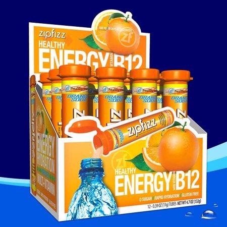 Zipfizz Healthy Energy Drink Mix, Orange Soda, 12 Count - image 1 of 3