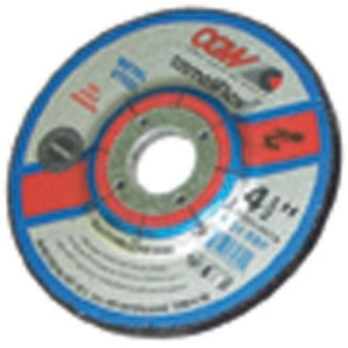 "Camel Grinding Wheels 35620 Depressed Center Grinding Wheel, T27, 4-1/2"" X 1/4"" X 7/8"" Arbor, A24r For Metal, 13,300 Rpm"