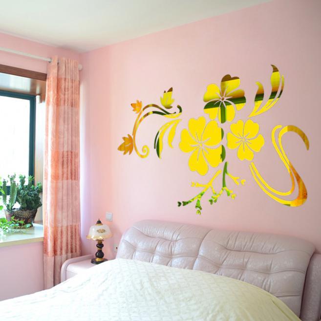 3D Mirror Vinyl Removable Wall Sticker Decal Home Decor Art DIY Sliver