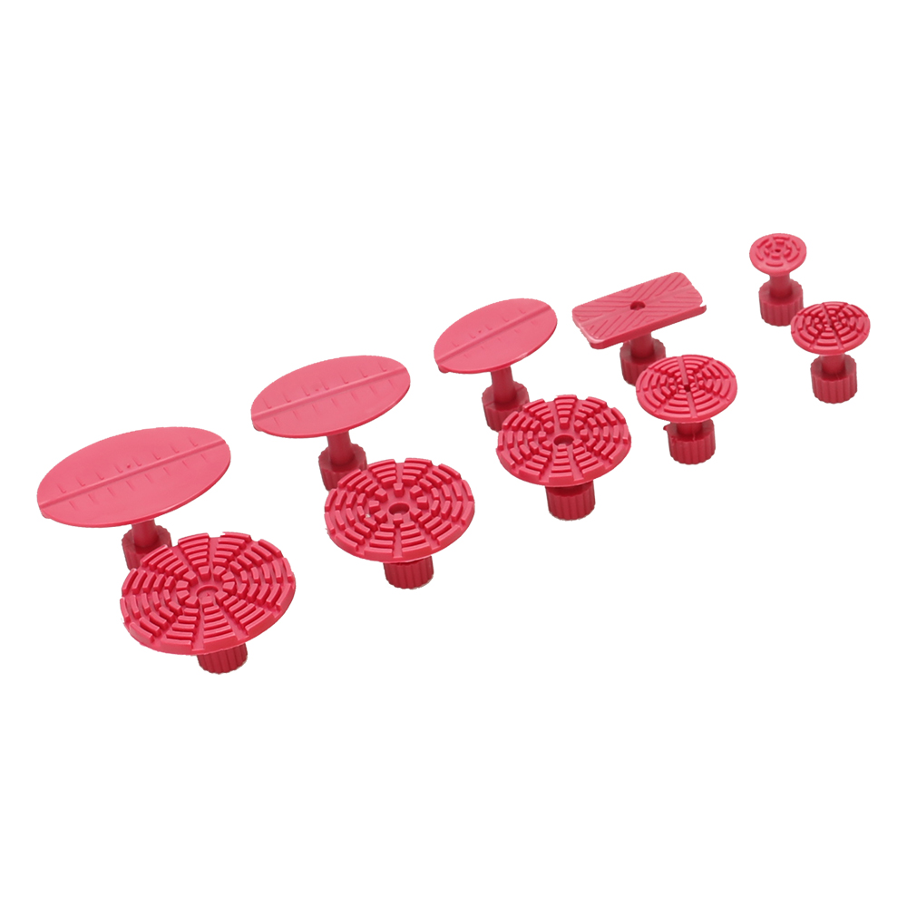 10pcs Rose Red Mixed Pulling Drawing Gasket Tool of Cars Paintless Dent Repair Tools of Auto
