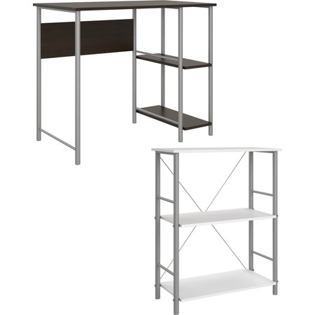Computer Desk With Bookcase - Mainstays Computer Desk with Mainstays 3 Shelf Bookcase Bundle