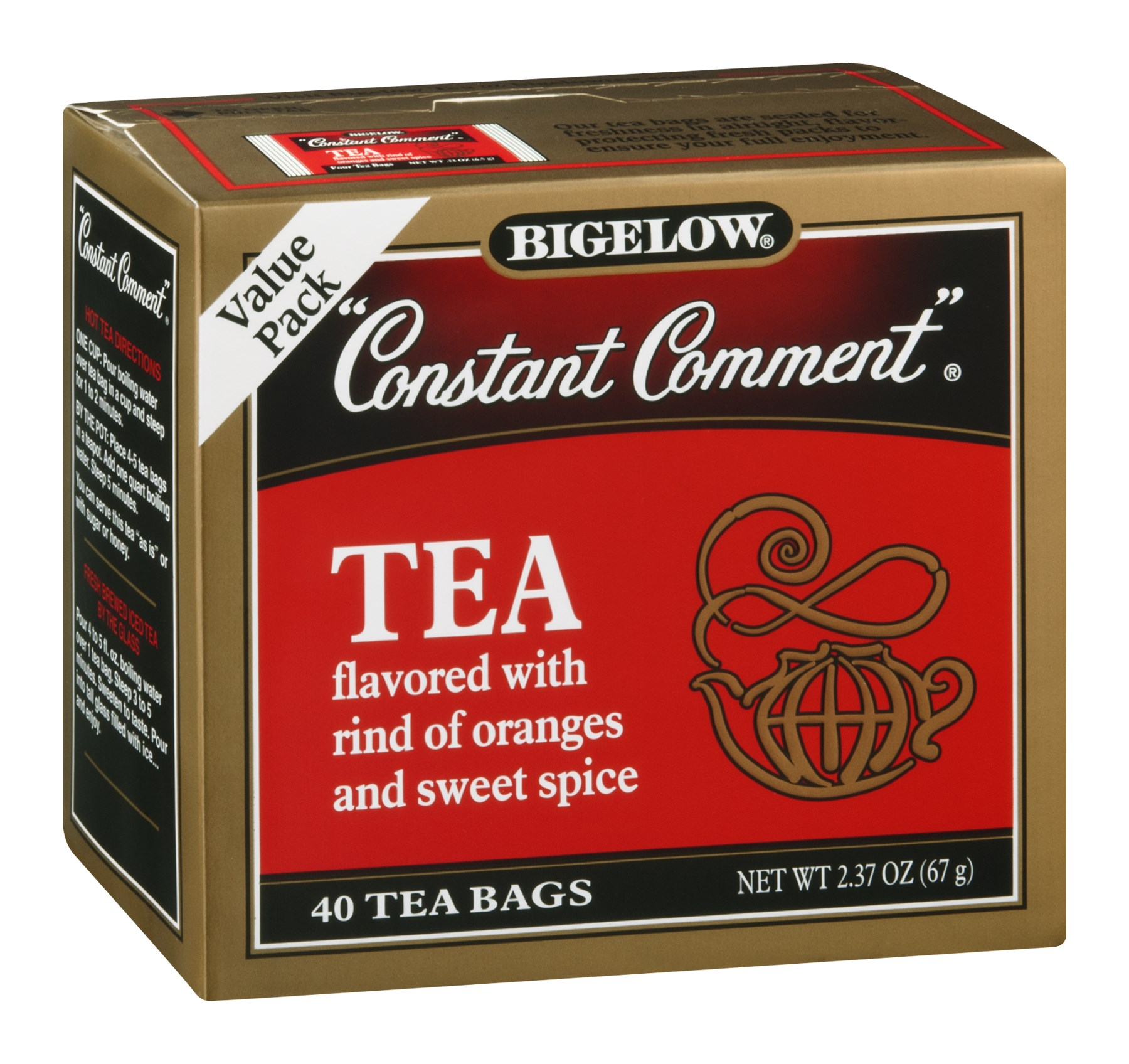 Bigelow Constant Comment Tea, 40 CT (Pack of 6)