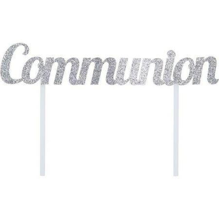 First Communion Cake (Creative Converting Silver Communion Cake)