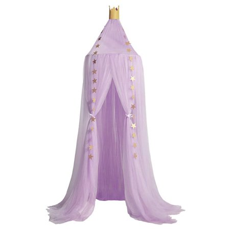Mosquito Net Bed Canopy Yarn Play Tent Bedding for Kids Playing Reading Dome Netting Curtains Baby Boys and Girls Games House (Purple)](Bed Canopy Tent)