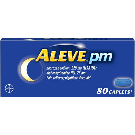 Aleve PM Pain Reliever/Nighttime Sleep Aid Naproxen Sodium Caplets, 220 mg, 80 (Lower Back Pain From Sleeping On My Back)