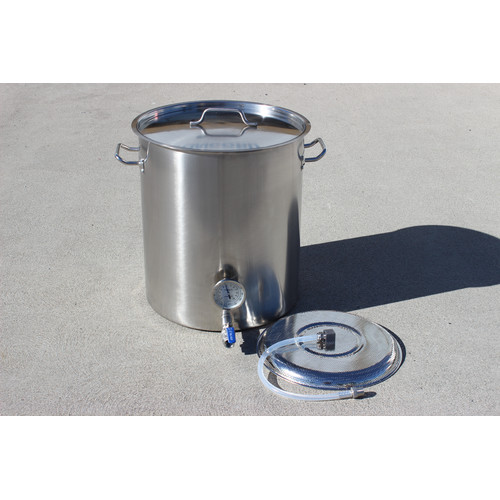Concord Cookware Stainless Steel 40 Qt. Home Mash Tun Brew Kettle with 2 Welded