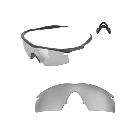 7b5f8ed4aa Walleva - Titanium Mr. Shield Polarized Replacement Lenses And Black  Nosepad For Oakley M Frame Strike Sunglasses - Walmart.com