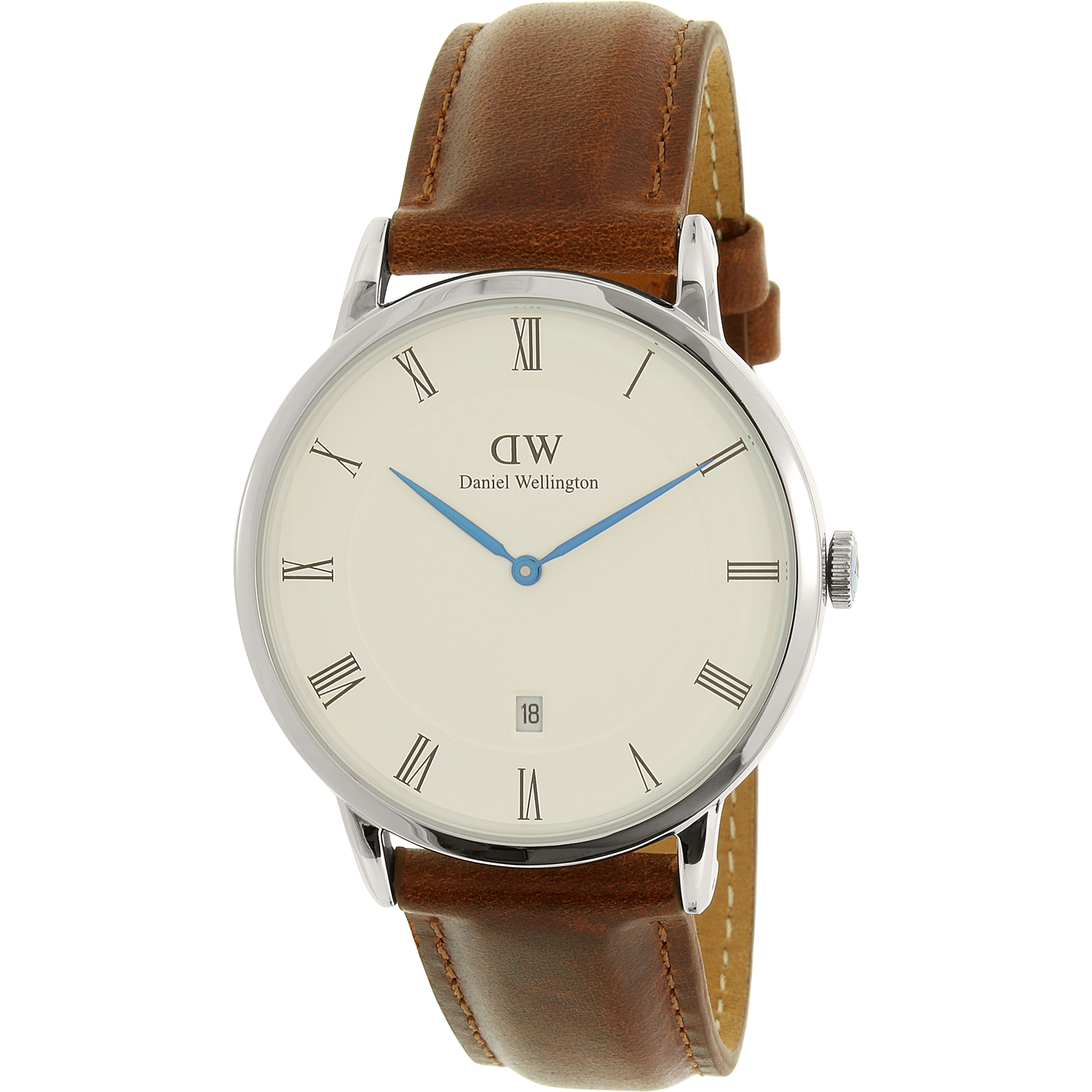 Daniel Wellington Men's Dapper St. Mawes 1120DW Silver Leather Quartz Watch