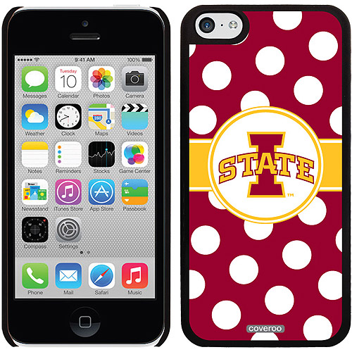 Iowa State Polka Dots Design on Apple iPhone 5c Thinshield Snap-On Case by Coveroo