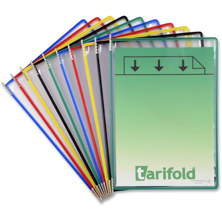 Tarifold, TFIP090, Pivoting 10-Pockets Display Pack, 10 / Pack, Assorted Frame,Clear (Tarifold Modular Reference Display)