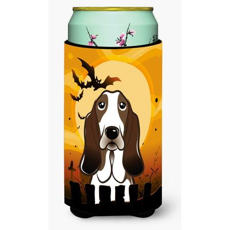 Halloween Basset Hound Tall Boy Beverage Insulator Hugger BB1801TBC](Halloween Basset Hound)
