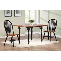 3-Pc Drop Leaf Dining Set with Arrowback Chairs