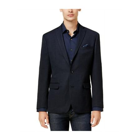 Knit Beaver (bar III Mens Slim-Fit Neat Knit Two Button Blazer Jacket )