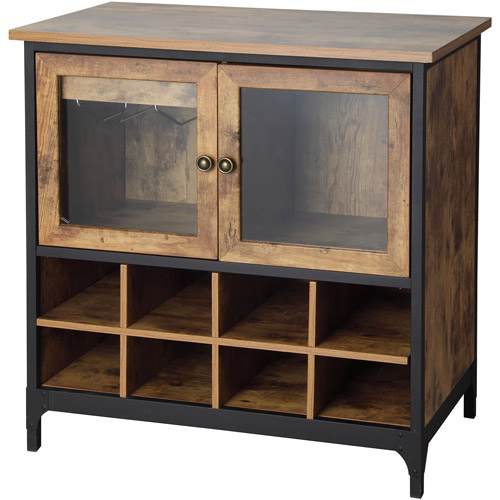 Better Homes And Gardens Rustic Country Wine Cabinet, Pine Part 31