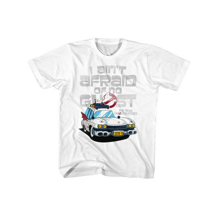Tv Toddlers (The Real Ghostbusters TV Series Aint Afraid White Toddler Little Boys TShirt)