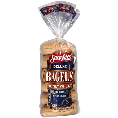 Sara Lee Deluxe Honey Wheat Bagels, 22 oz