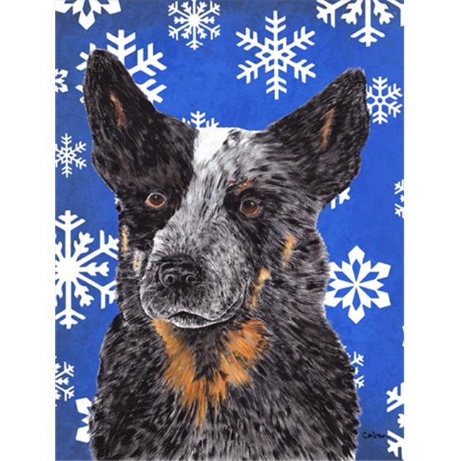 11 x 15 in. Australian Cattle Dog Winter Snowflakes Holiday Garden Size Flag - image 1 de 1
