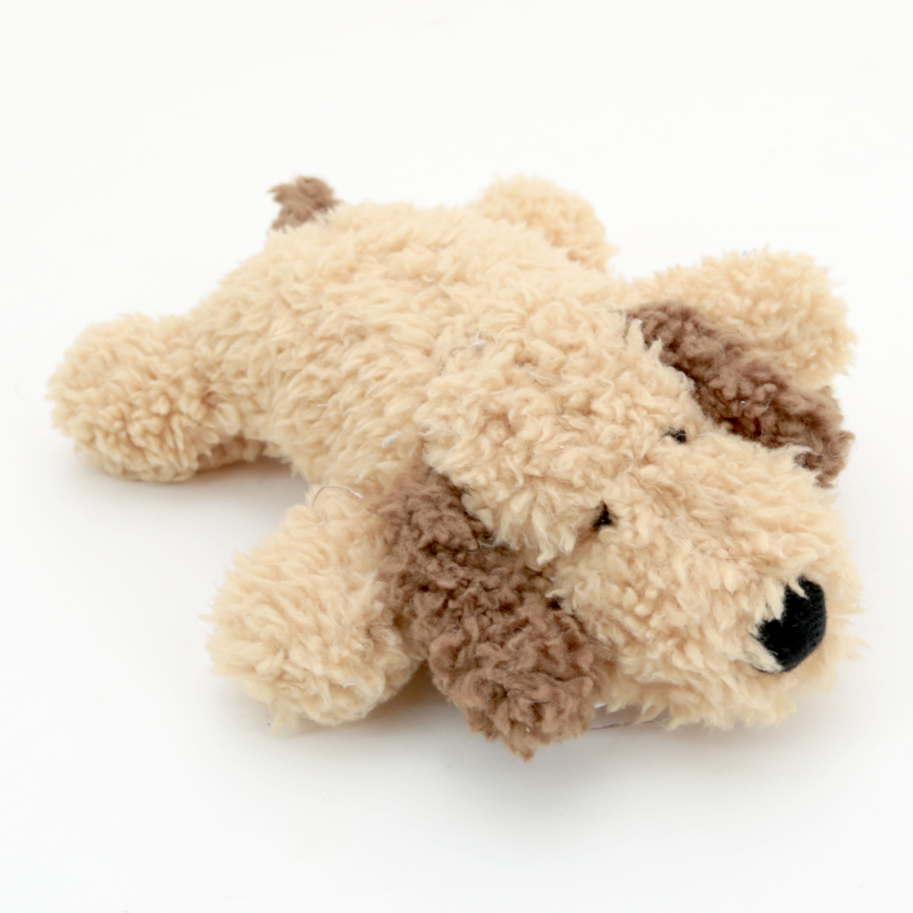 7-inch Squeaky Plush Floppy Puppy Dog Toy - Honey Color