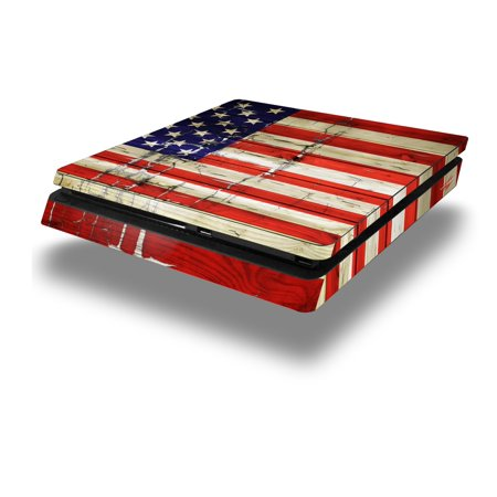 Wraptorskinz Ps4 Slim Skin Wrap Painted Faded And Cracked Usa American Flag   Decal Style Skin Fits Sony Playstation 4 Slim Console