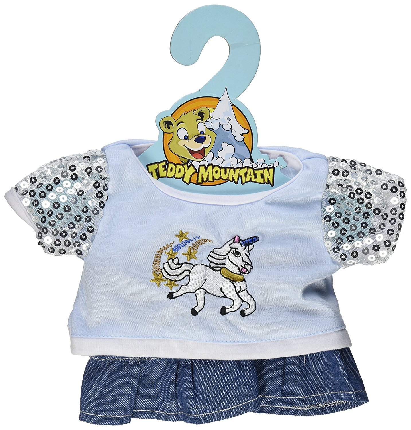 Unicorn Glitter Outfit Teddy Bear Clothes Outfit Fits Most 14 18