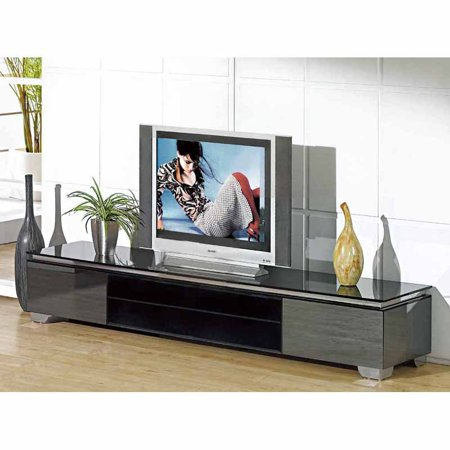 Creative Images International Mirrored Glass Contemporary Tv Console   Tv068gy