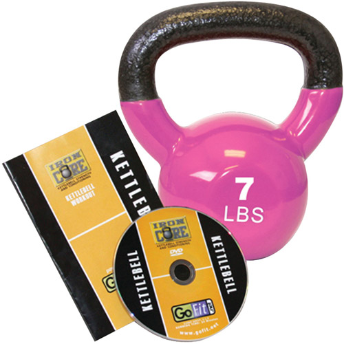 GoFit 7-lb Premium Kettlebell with Training DVD