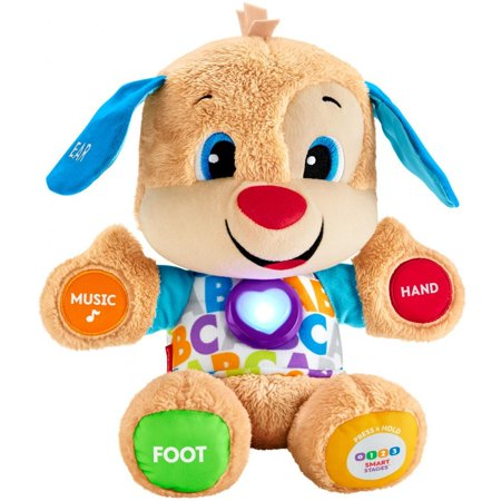 Fisher Price Snuggle (Fisher-Price Laugh & Learn Smart Stages Puppy with 75+ Songs &)