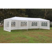 Mcombo 10'x30' White Canopy Party Outdoor Gazebo Wedding Tent 5 Removable Walls