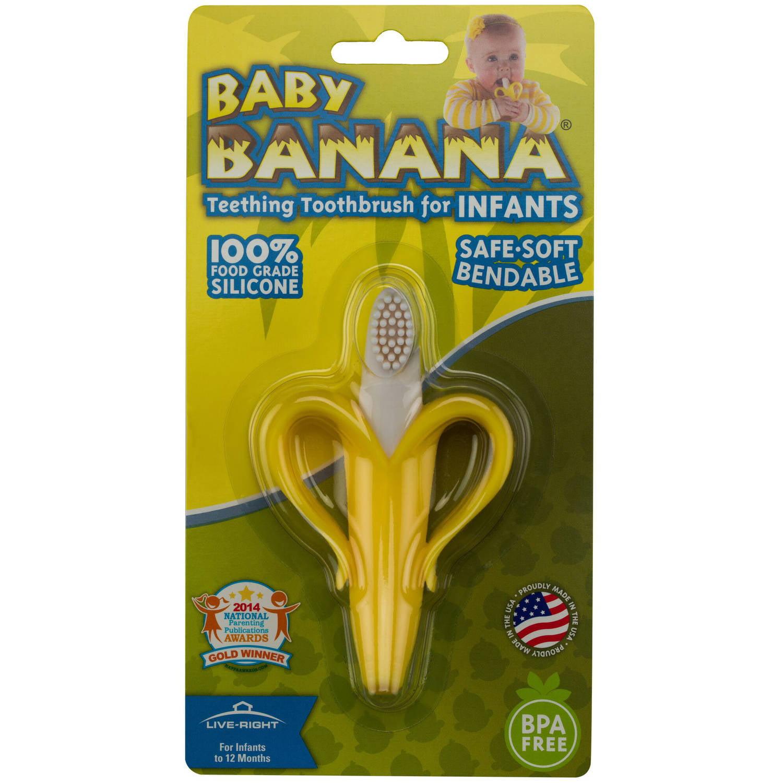 Baby Banana Teething Toothbrush for Infants, Yellow - Walmart.com