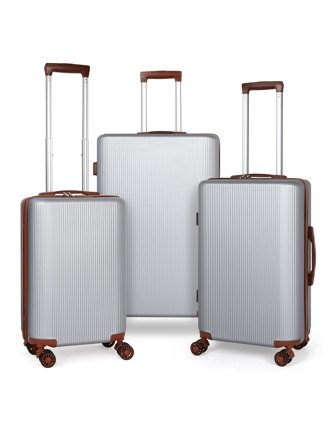 ABQ Boundless Spinner Hardside 3 Piece Luggage Set