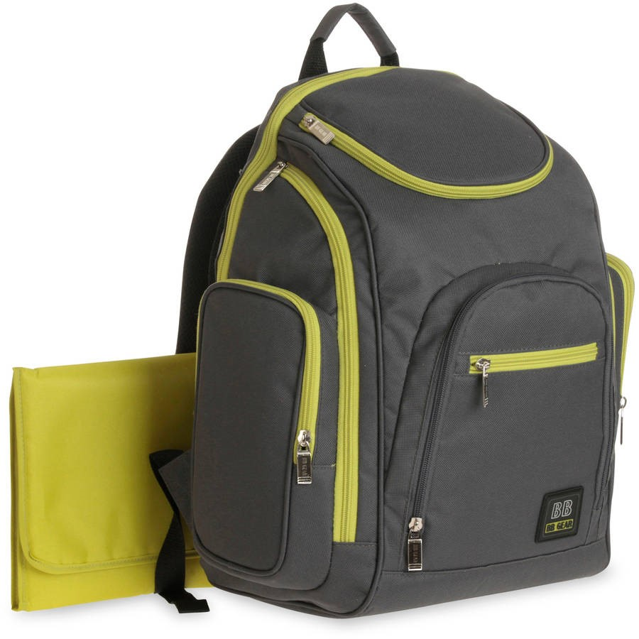 Baby Boom Spaces and Places Backpack Diaper Bag, Gray
