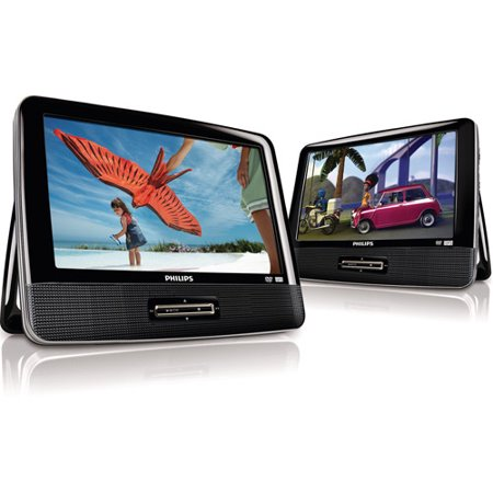 Philips PD9016 9″ Dual Screen Portable DVD Player, Refurbished