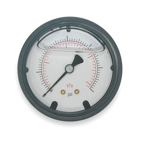 4FLJ5 Pressure Gauge, Liquid Filled, 2 In