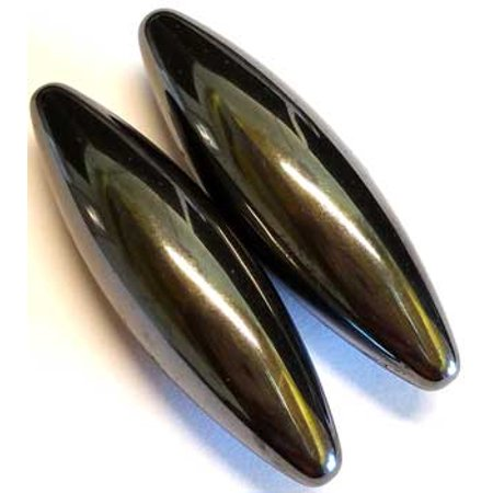 RBI Gemstone 60mm Magnetic Hematite Oval Pair Magical Crystal Healing Enlightenment