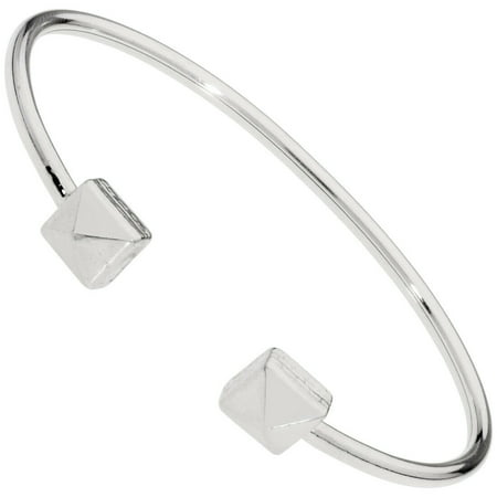 Alex And Ani Pyramid Cuff Silver One Size Bracelet PC18CF06S Contemporary Cuff Bracelet
