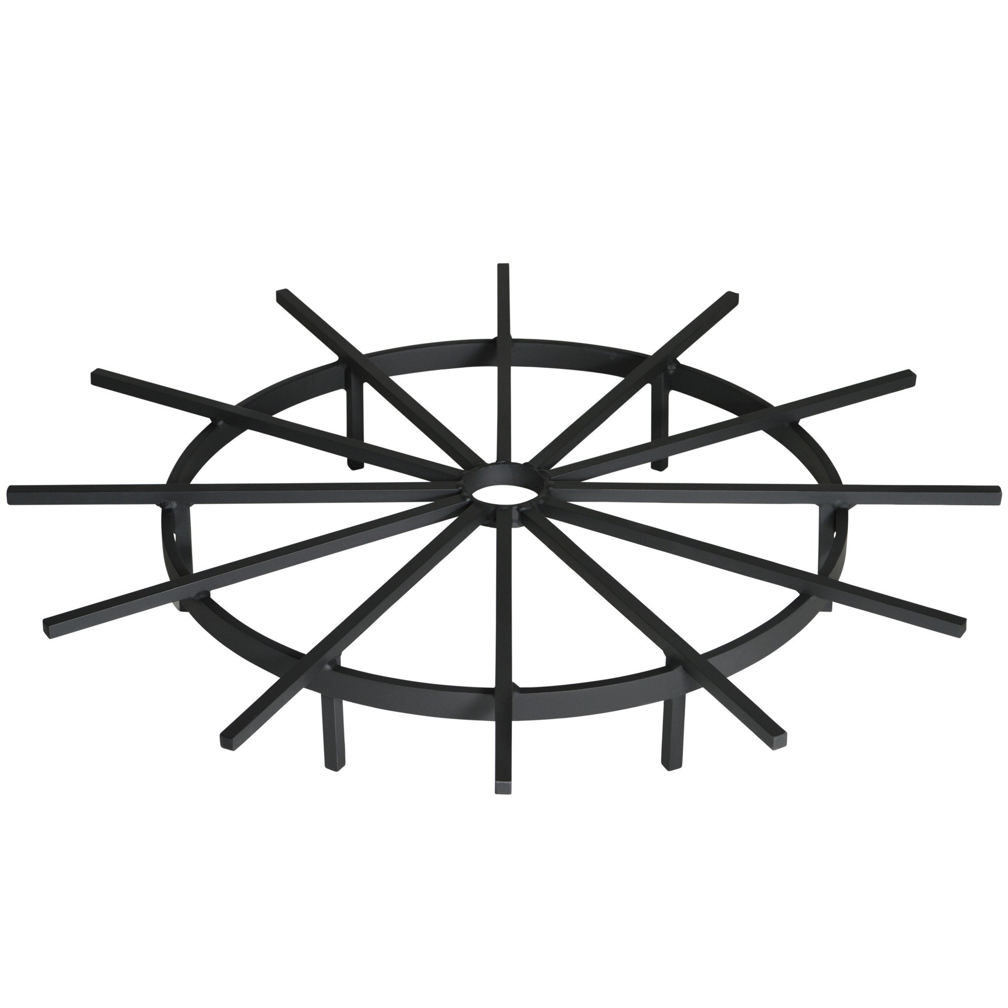 Heritage Products 28 Inch Ship's Wheel Fire Pit Grate - Made in the USA