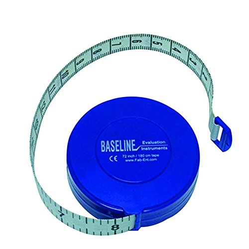 Baseline woven measurement tape with push-button retractor, 72""