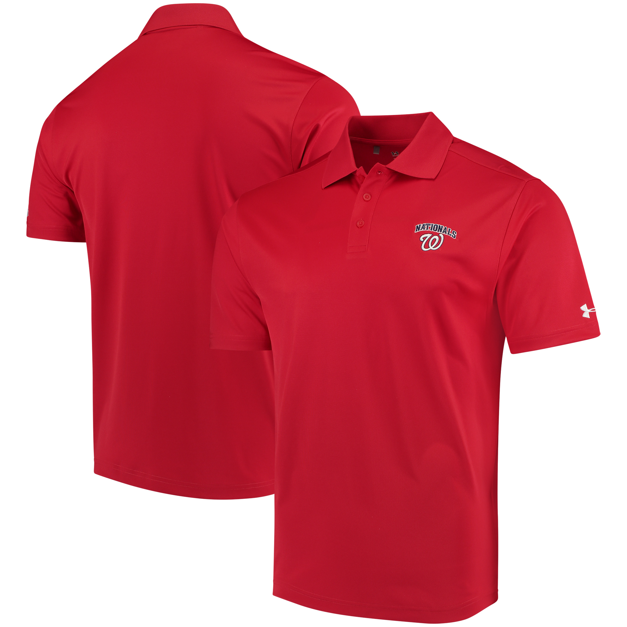 Washington Nationals Under Armour Performance Polo - Red