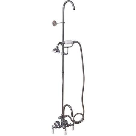 Decor Plumbing Gooseneck Tub/Shower Combo for Acrylic Tub, Polished ...