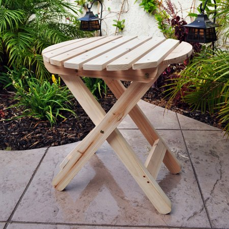 Shine Company Adirondack Round Folding Table - (Adirondack Cedar Side Table)