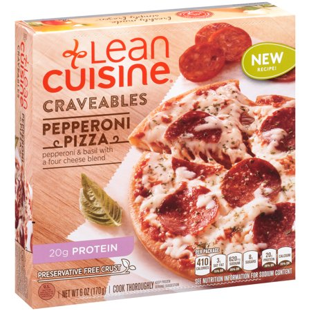Lean cuisine craveables pepperoni pizza 6 oz box for Are lean cuisine pizzas healthy