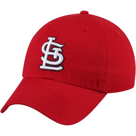 Louis Rams Hat (St. Louis Cardinals Fan Favorite Primary Logo Clean Up Adjustable Hat - Red - OSFA)