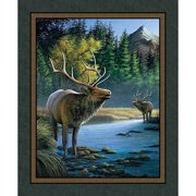 Springs Creative Wild Wings Mountain Sky Elk Wall Panel Fabric by the Yard