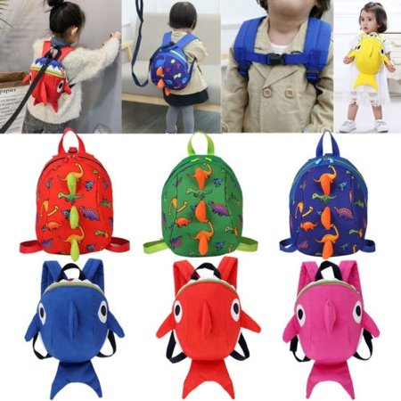 Kids Safety Harness Leash Anti Lost Shark Backpack Strap Bag For Walking