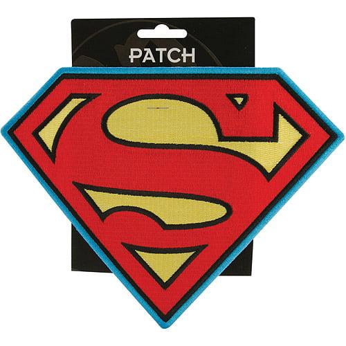 "DC Comics Super Hero Patches Iron-On Applique Patch, Superman Insignia 8"" x 8"" x 8"""