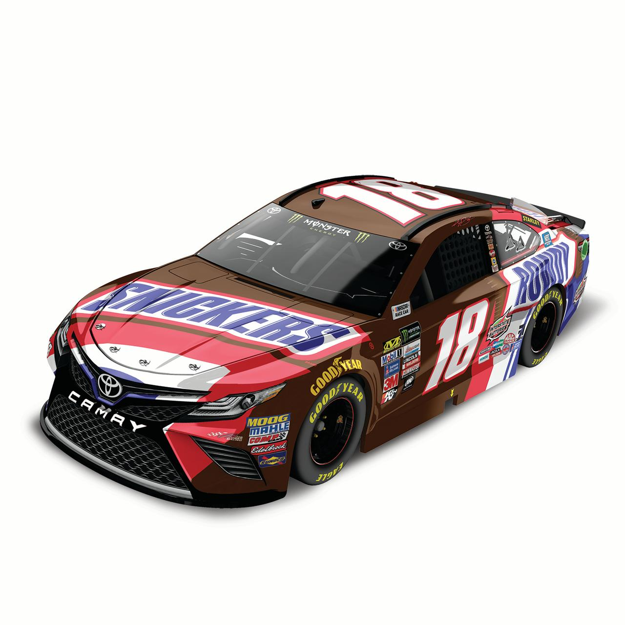 Kyle Busch Action Racing 2017 #18 Snickers 1:24 Monster Energy Nascar Cup Series Die-Cast... by Lionel LLC