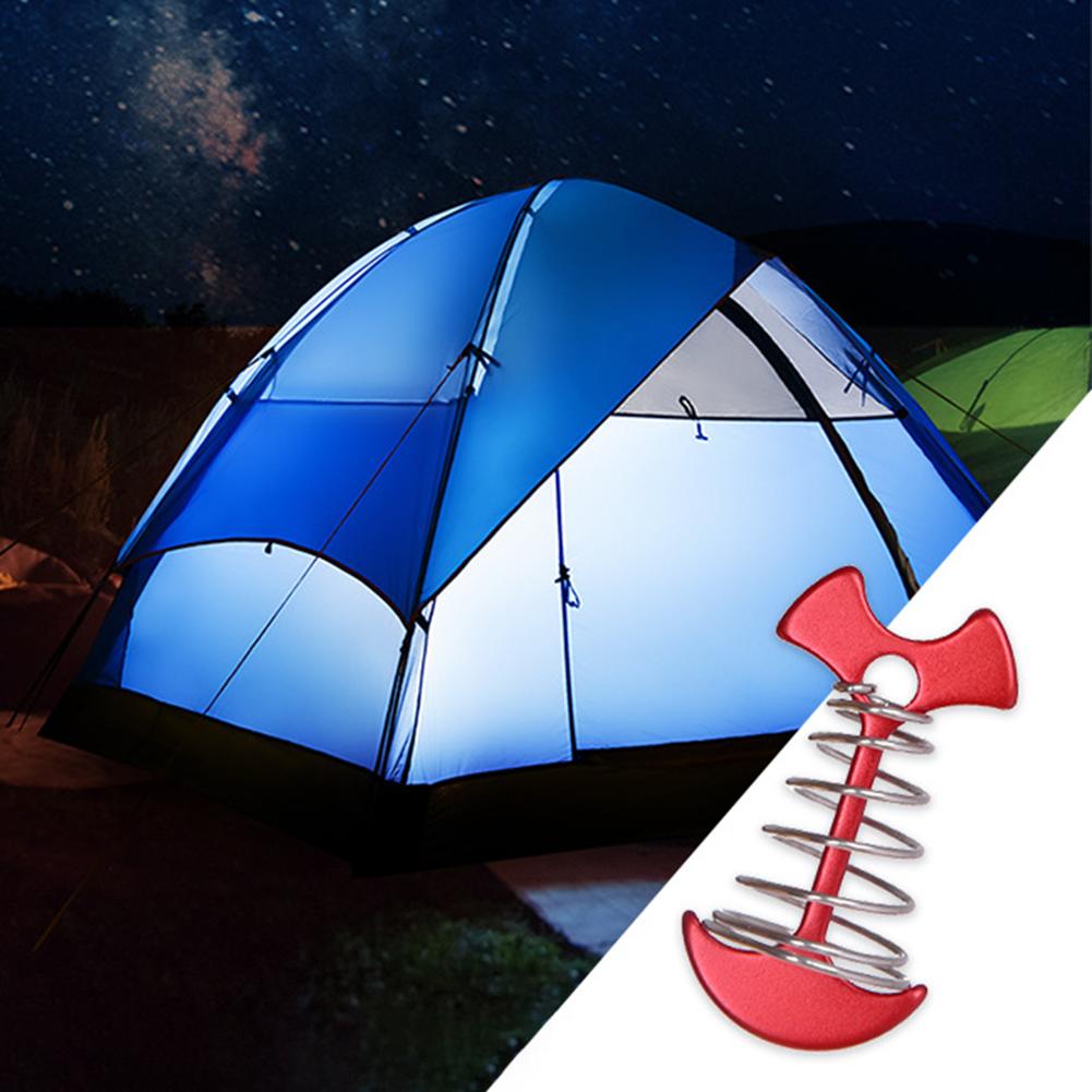 Deck Hook Floor 4Pcs Tent Spring Peg Fishbone Anchor Hook Premium Durable