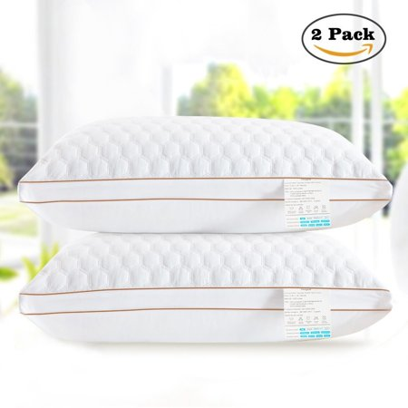 beegod Bed Pillows 2 Pack For Better Sleeping, Super Soft & Comfortable Antibacterial & Anti-mite, Best Hotel Pillows, Relief For Migraine & Neck